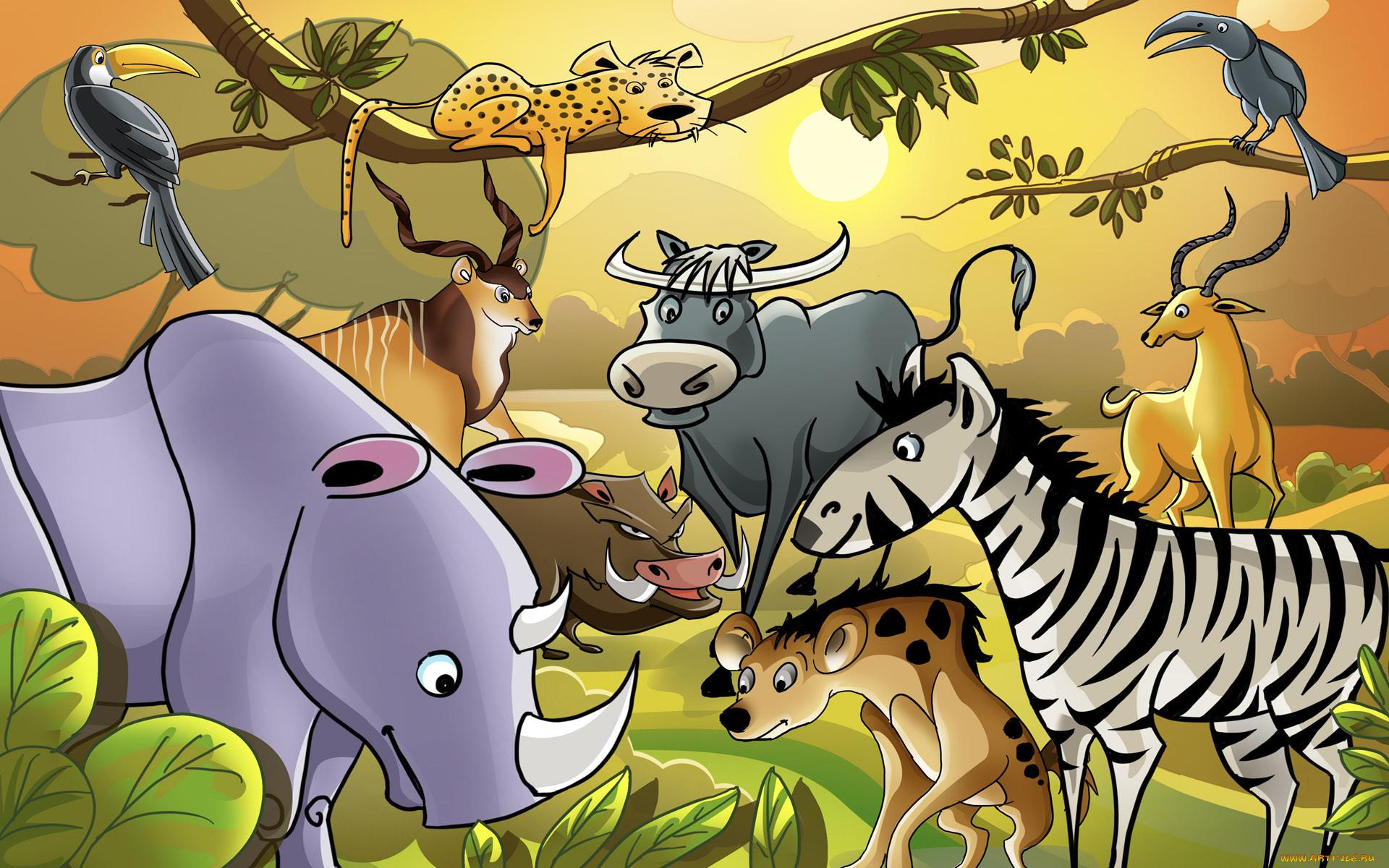 Все животные в картинках для детей онлайн